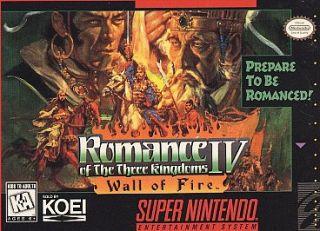 Romance of the Three Kingdoms IV Wall of Fire Super Nintendo, 1995