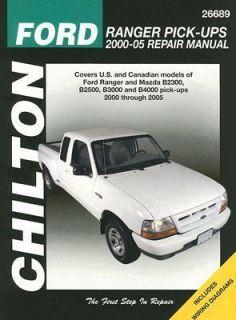 Ford Ranger Pick Ups 2000 05 Repair Manual by Eric Jorgensen and Alan