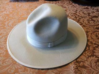 BRAND 5X COWBOY WESTERN HAT 7 3/8 BEIGE BAREBONES TWOHAT SUTTER CREEK