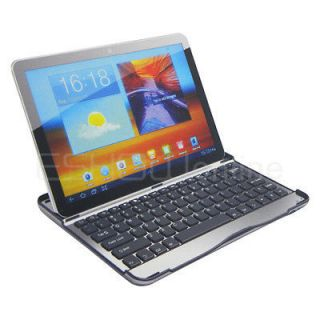 New Silver Case Bluetooth Keyboard Dock for Samsung Galaxy Tab 10.1