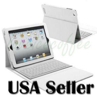 Bluetooth Wireless Keyboard with Leather Case Stand Cover iPad 2 2nd 3