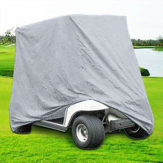 Passengers Golf Cart Cover Silver Fit EZ Go Club Car