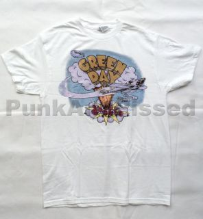 Green Day   Old School Dookie white t shirt   Official   FAST SHIP