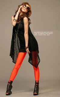 sexy girl women Sexy Metallic Orange Leggings L9448 1