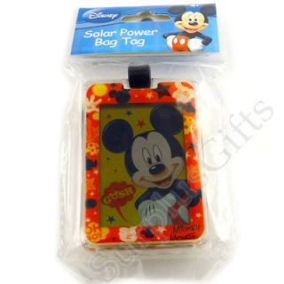Disney Mickey Mouse Solar Powered Bag Luggage Backpack Tag