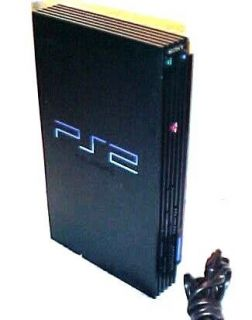 FAT BLACK SONY PLAYSTATION 2 PS2 CONSOLE & POWER CORD