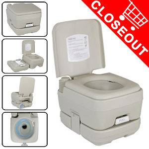 Portable 2.8 Gallon Toilet Flush Camping Travel Outdoor/Indoor Potty