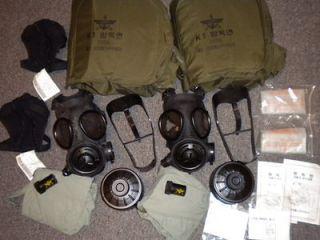 Preppers Korean Military Issue Gas Mask Respirators NBC CBRN kit