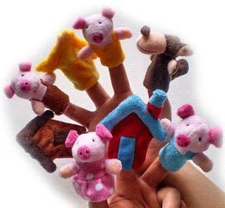 Puppet story (The Three Little Pigs).plush toys story,RPG 13H