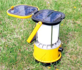 Solar powered ultra bright LED camping lantern light with USB charge