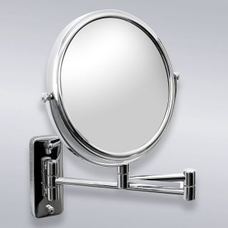 Wall Mount 8 Cosmetic Mirror with 3X Magnification Bathroom Chrome