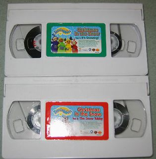 Teletubbies Christmas in the Snow PBS Kids VHS Video Tapes Vol 1 & 2