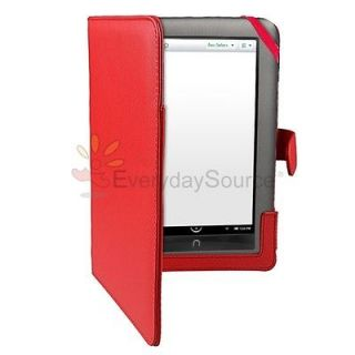 For  Nook 1st Edition Red Folio PU Leather Case Cover