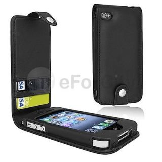Leather Card Holder Flip Case Cover Pouch For iPhone 4 4S 4G NEW