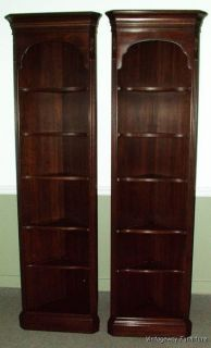 ETHAN ALLEN Georgian Court Set 2 Corner Cabinets Bookcases Excellent