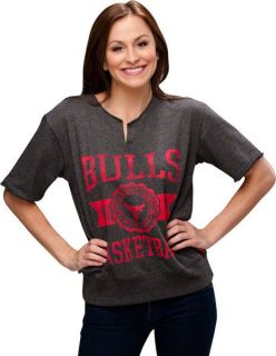 Chicago Bulls Womens Flash Short Sleeve Crewneck Sweatshirt