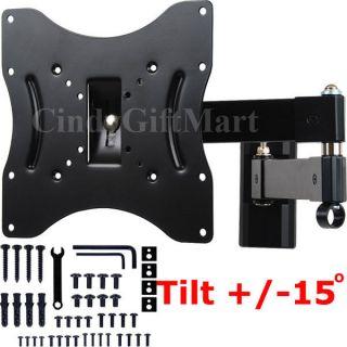 LED LCD Tilt Swivel Arm TV Wall Mount 23 24 26 27 30 32 36 37 1XE