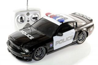 RC FORD SHELBY GT500 SUPER SNAKE POLICE CAR 1/18 RADIO CONTROL BY