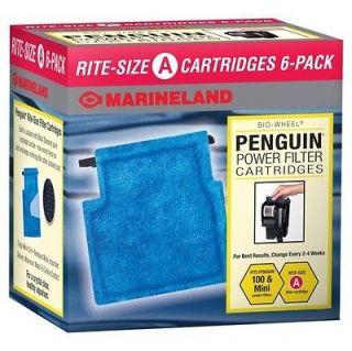 RITE SIZE A CARTRIDGES 6 PACK PENGUIN BIO WHEEL CARTRIDGES FREE SHIP
