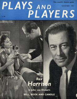 PLAYS & PLAYERS MAGAZINE 1954 NOV REX HARRISON   DORA BRYAN   COLE