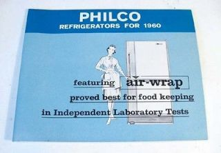 1960 Brochure PHILCO Refrigerators