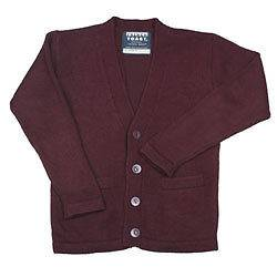 New With Tags CLEARANCE Unisex Burgundy School Uniform Cardigan