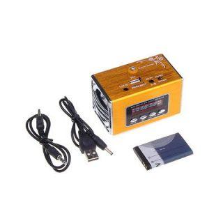 Mini Digital Music MP3 Player Speaker w/ FM Radio USB Disk Micro SD/TF