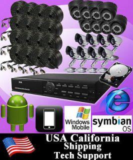 16CH Surveillance CCTV DVR Home Video Recorder Security Camera System