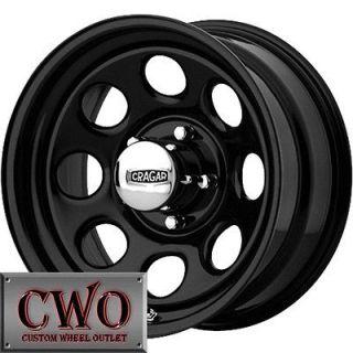 15 Black Cragar Soft 8 Wheels Rim 5x114.3 5 Lug Jeep Wrangler Ford