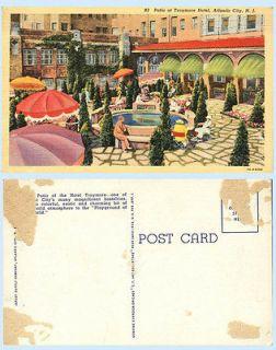 Outdoor Patio Traymore Hotel Atlantic City New Jersey 1937 Teich