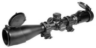 Leapers 3 12x44 AO SWAT Accushot Rifle Scope, EZ TAP, Illuminated Mil