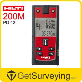 HILTI PD42 Laser Range Finder Distance Measurer 200m