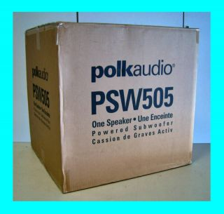 POLK AUDIO PSW505 12 POWERED SUBWOOFER ★BLACK★ SUB NEW
