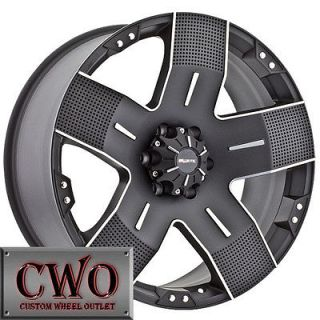 Newly listed 20 Black Ballistic Hyjak Wheels Rims 6x139.7 6 Lug Tahoe