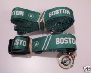 BOSTON CELTICS PET SET DOG COLLAR LEASH ID TAG ALL SIZE
