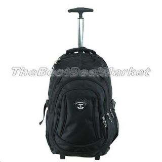 18 Rolling Backpack Wheeled College Travel Carry on Drop Handle