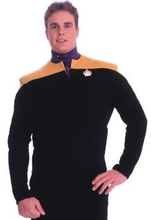 Deep Space Nine GOLD Shirt Adult Large Uniform Costume Chief OBrien