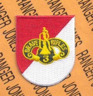 3rd Armored Cavalry Regt ACR BRAVE RIFLES w/ dui crest beret flash