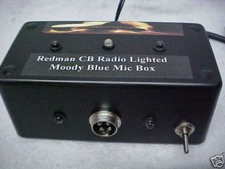 Redman Cb Radio 4 Pin Galaxy Cobra RCI Mic Light Box