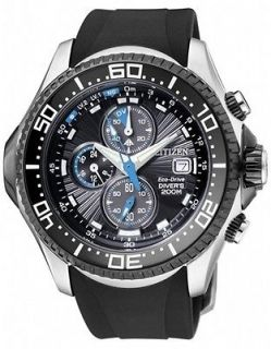 CITIZEN PROMASTER ECO DRIVE AQUALAND CHRONO DIVERS WATCH BJ2110 01E