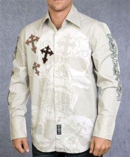 Crave by Rebel Spirit Mens Long Sleeve Shirt NWT C006 Tan