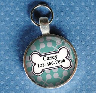 tags pet tag dog tag light turquoise from California Mutts CUSTOM NEW