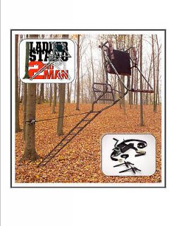 NEW Ladder Stand 2nd Man   Works Great On Big Game Ladder Tree Stands