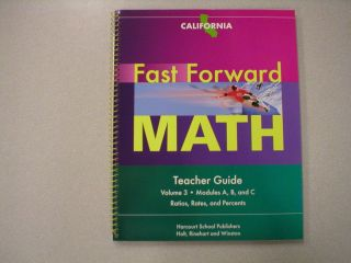 Fast Forward Math Teacher Guide Volume 3 California Harcourt ISBN