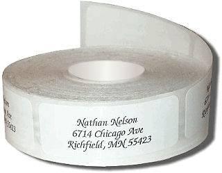 600 Clear Return Address Labels on rolls