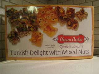 TURKISH DELIGHT WITH MIXED NUTS 450gr 12.25oz(FAMOUS TURKISH BRAND