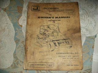 MANUAL vintage 1976 Hard 2 find Tractor Lawn Mower Grass Cutter