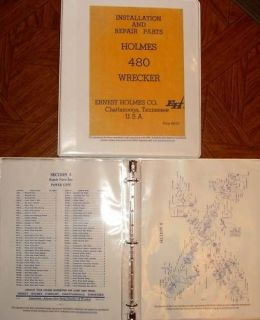 1969 Ernest Holmes Wrecker 480 tow truck Servic Manual
