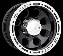 CPP ION Alloys style 174 Wheels Rims 16x10, 6x5.5, black with