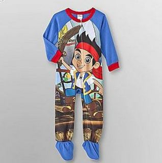 Disney Jake And The Neverland Pirate Footed Fleece Blanket Sleeper Boy
